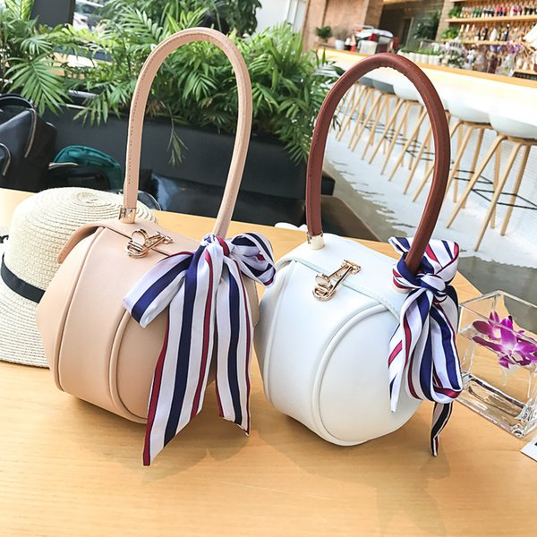 elegant bag lovely purse circular ring handle handbags pu leather tote bags for women girl party gift (490043824) photo