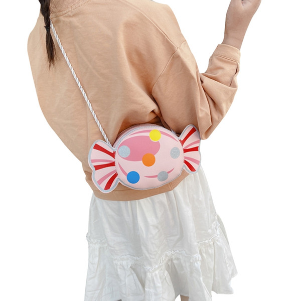 candy design crossbody bags for girls unqiue shape shoulder bag little girl messenger bag coin purse tote (546485626) photo