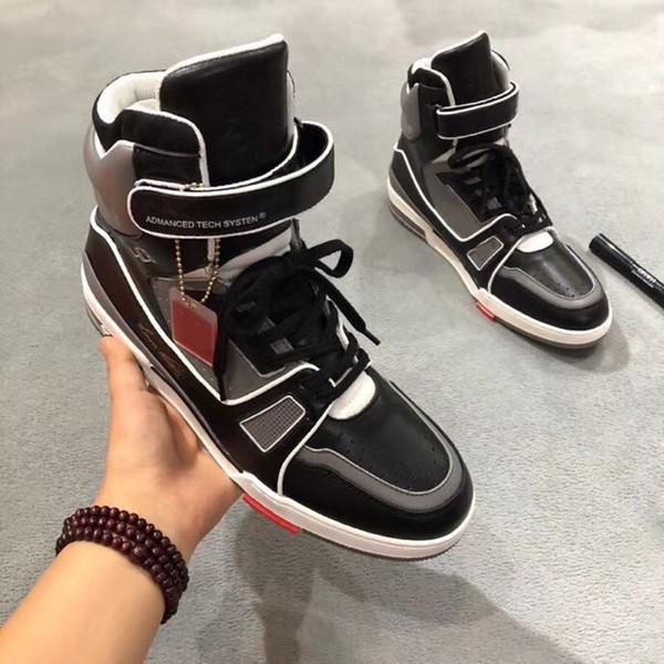 2019 Высокое качество Мода кожа повседневная Бег outddoor обувь для мужчин с коробкой Б