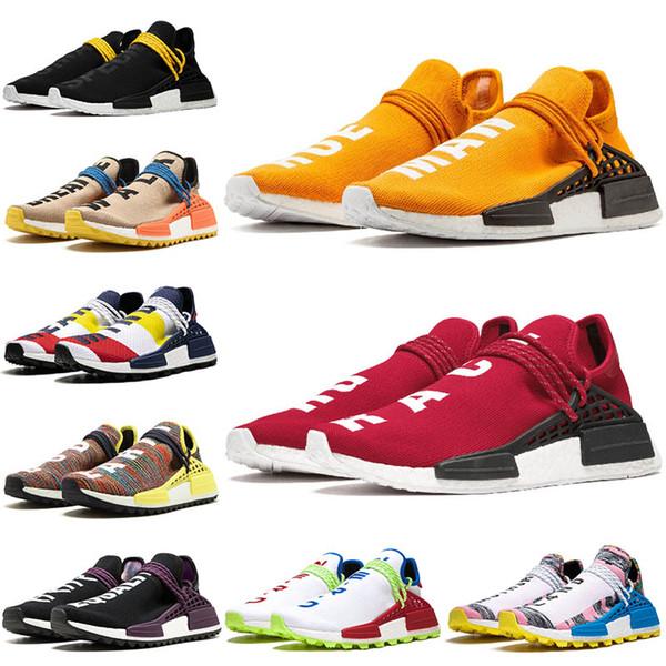 Обувь человеческой расы Оранжевый NMD Hu Trail Желтые мужские кроссовки Кроссовки для фото
