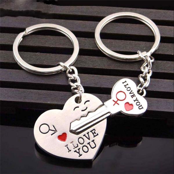 Новейшая мода 2шт мода любовь Сердце брелок брелок пары романтический брелок любовник подарок я люблю тебя брелок фото
