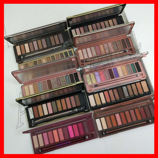 2019 Тени для век для макияжа Eye Shadow nude 12 цветов палитра теней для век 1 2 3 4 5 Теплая ви фото