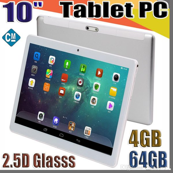 10 inch mtk6580 2 5d gla    ip  capacitive touch  creen dual  im 3g gp  tablet pc 10 quot  android 6 0 octa core 4gb 64gb