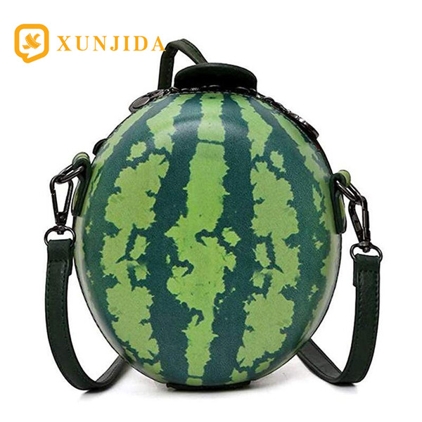 xunjida 2020 new women watermelon orange shape cross body bag pu leather clutch purse cute coin purse phone wallets chain bags (527249442) photo