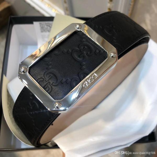 Fashion designer buckle belts with box men high quality genuine leather belt man fashion strap male cowhide belts for men jeans