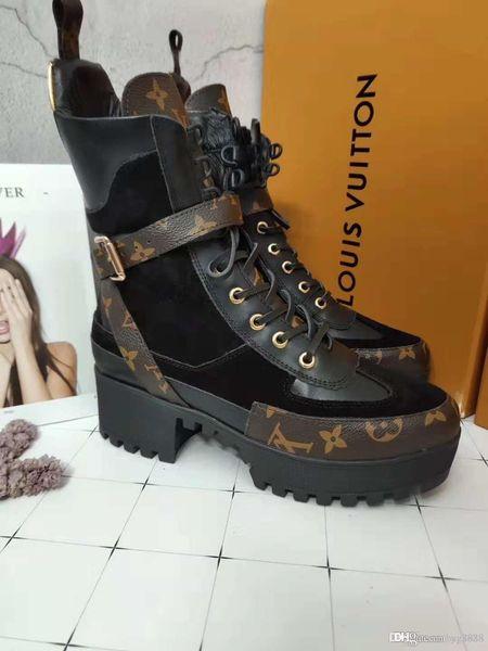 Женские короткие сапоги с толстым дном Martin Boots Модный удобный кожаный материал сп