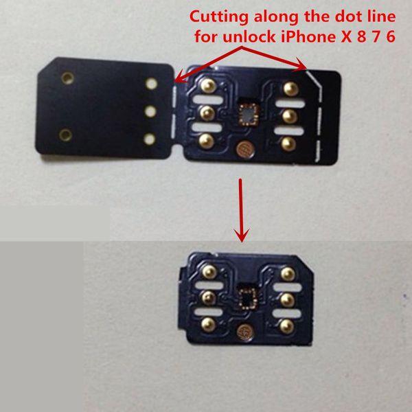 Dhl new black unlock  im card tm i   iccid mode for iphone xr x  max io  12 4 double  im gevey auto pop up menu