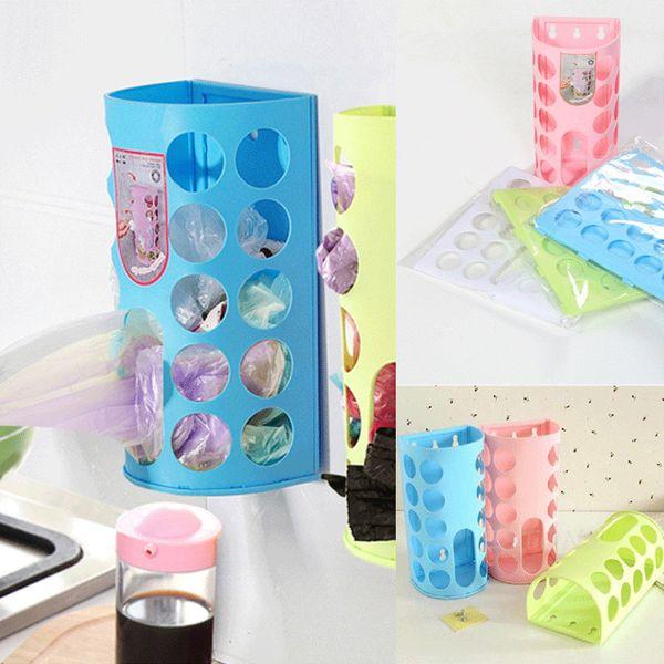 Faroot 1шт пластиковые несущие сумки для хранения диспенсер держатель организатор торговый стеллаж Кухня Ванная комната ящик для хранения фото
