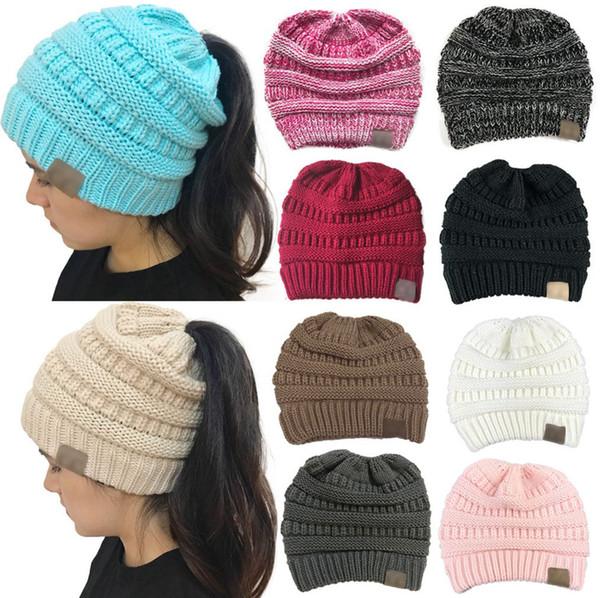 Оптовые шапки шляпы вязаные шапочки мода девушки женщины зима теплая шапка высок