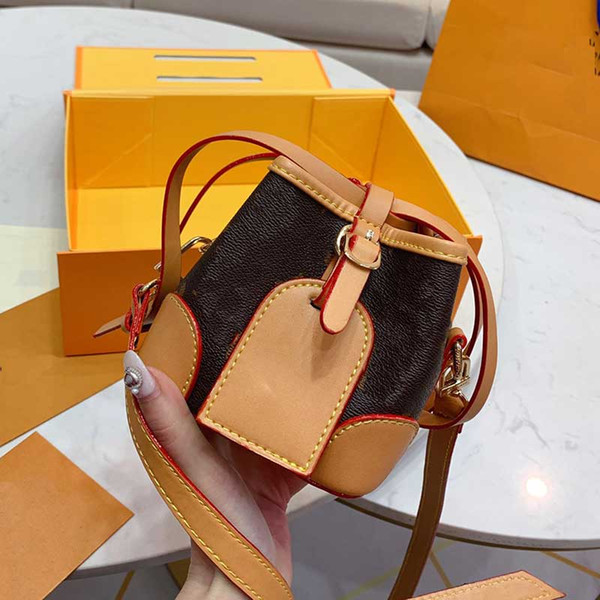 shoulder purse crossbody handbag school bag women classic bucket bag drawstring handbag mini purse ladies wallet (549682175) photo