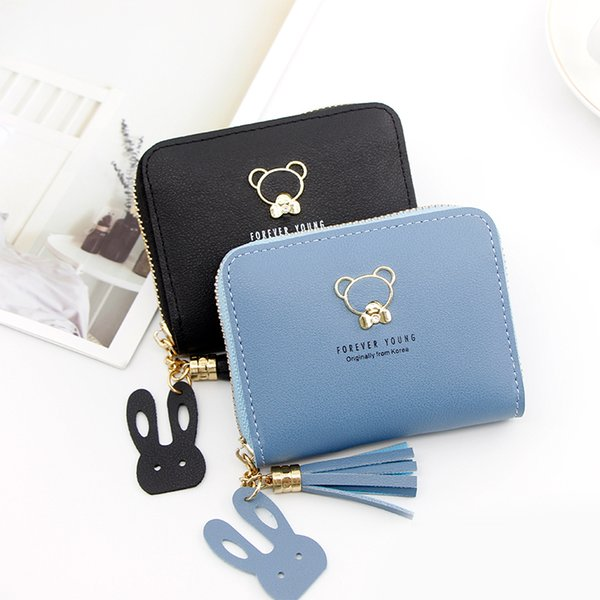short women's purse women's handbag embroidered purse with zipper little girl's change bag card holder (535668755) photo