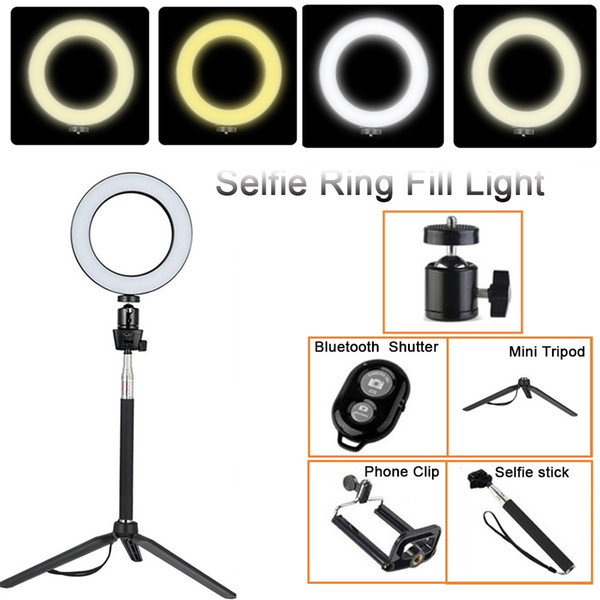 Tycipy 14cm 20cm Selfie Ring Light LED Studio Photography Photo Camera Ring Light with Tripod for Smartphone Make Up Youtube