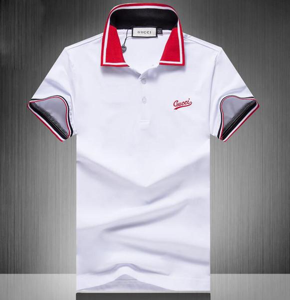 2019 Марка Fashion Luxury Designer Fashion Классические мужские футболки Хлопок Мужские дизайнер фото