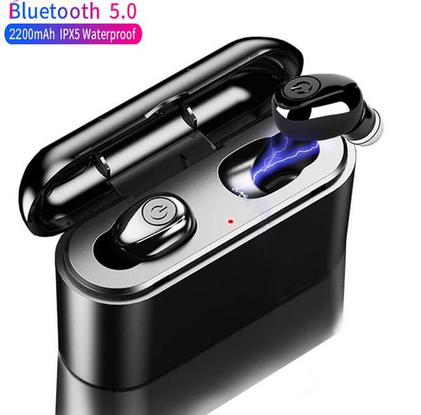X8  tw  true wirele   earbud  5d  tereo bluetooth earphone  mini tw  waterproof headfree  with charging box 2200mah power bank