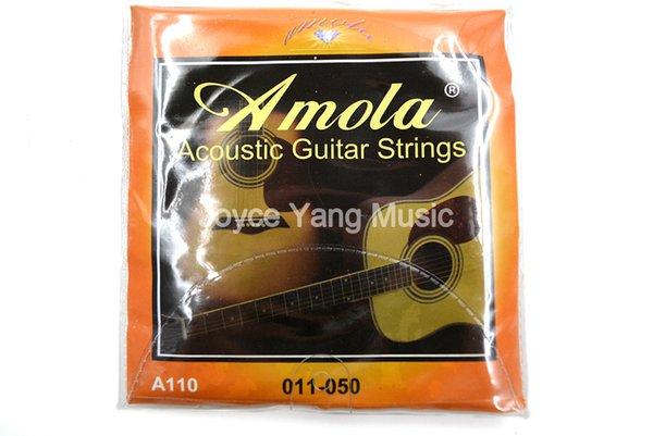 Amola A110 Акустическая гитара Струны первой-шестой стали Струны Phosphor Bronze 011-050 Датчик фото