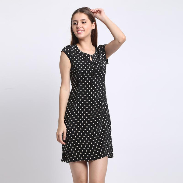 100% Silk Dress Silk Crepe Dress Classic Design Women Printed Dresses New Spring and Summer Style Chinese Supplier
