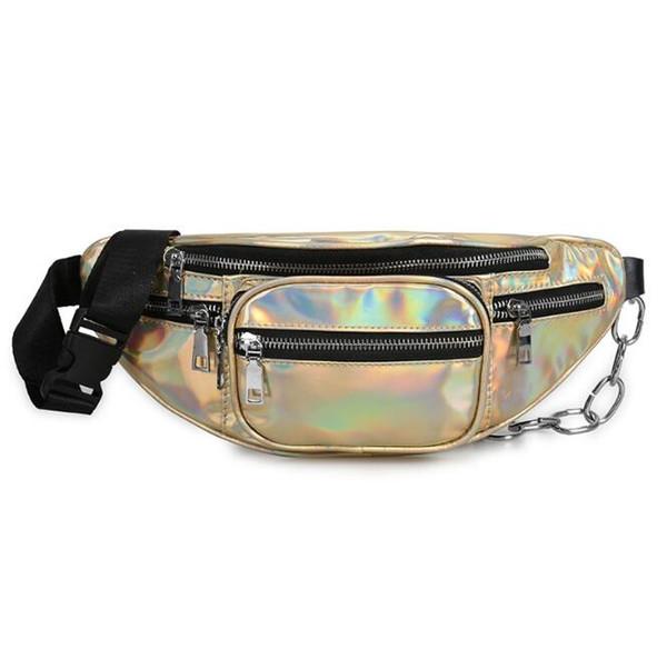 wholesale handbags purses wholesale women waist bag new fashion crossbody bag laser shoulder bags pu (546345905) photo