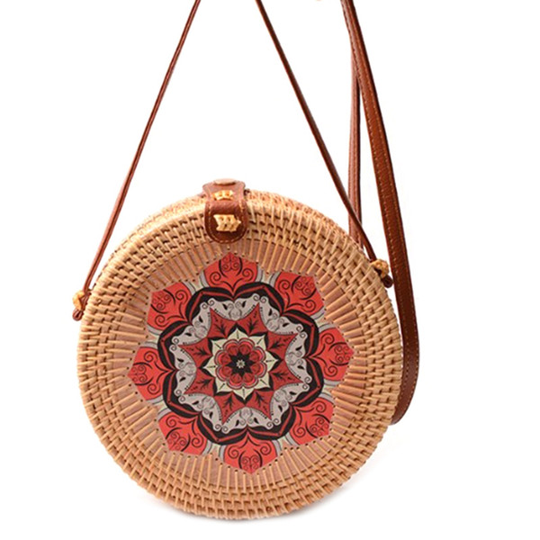 rattan bag - handmade wicker woven purse handbag (530923634) photo