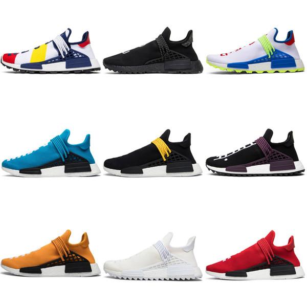 Adidas human race Новые BBC Human Race Мужские кроссовки Pharrell Williams Черный ботаник Равенство Ботаник синий ботаник Белый Спорт Мужчины Женщины Кроссовки Тренер 36-45