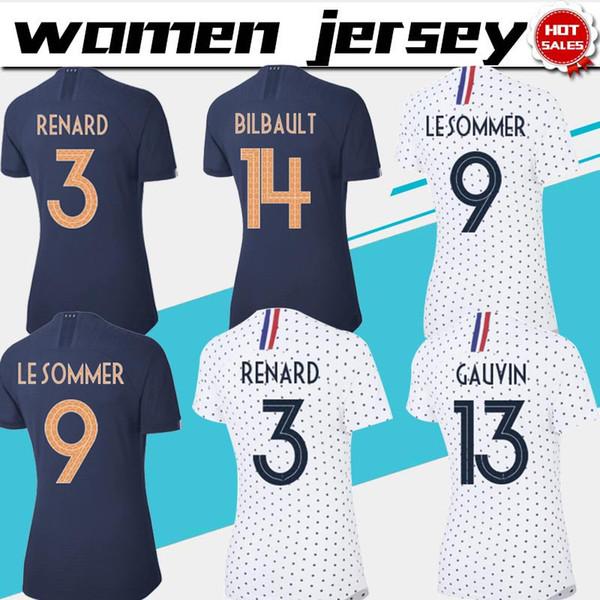 Women jer ey 2019 world cup 3 renard 9 le ommer occer jer ey 19 20 female occer hirt cu tomized football uniform on ale