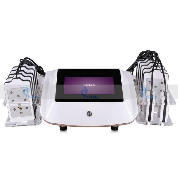 Неинвазивная портативная лазерная машина Lipo 650nm 14 колодок Lipolaser для похудения сжи фото