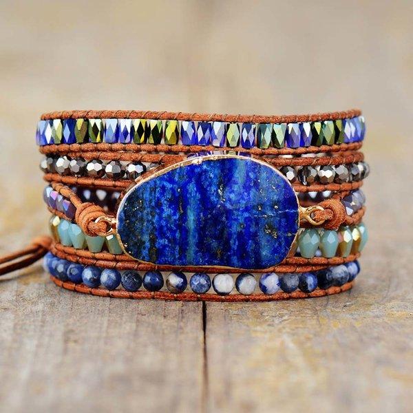 bracelets_exclusifs_wrap_pierres_naturelles_lapis_lazuli_perles_cuir_bijoux_bracelets_tissé_bracelet_femme_dropshipping