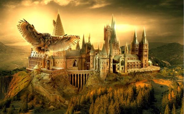 7x5ft закат Гарри Поттер Хогвартс школа Сова Лысая гора пользовательские фотостуди