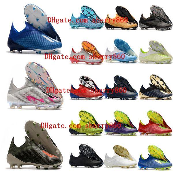 2019 высокое качество мужская футбольная обувь X 19 FG nemeziz футбольные бутсы дешевые x фото