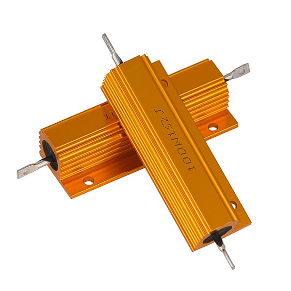2pc 1 ohm 100w washell power aluminum housed case wirewound resistor new drop shipping (501588060) photo