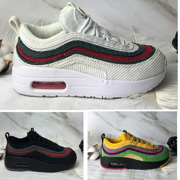1/97 VF SW TD Toddler Sean Wotherspoon Children Kids Running Shoes Boy Girls Sports Sneakers Infant Student Child Trainers With Extra Laces