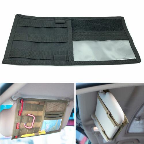 Автомобильная сумка для хранения солнцезащитный козырек организатор сумка Сумка для хранения карт CD держатель карты мульти карман черный фото