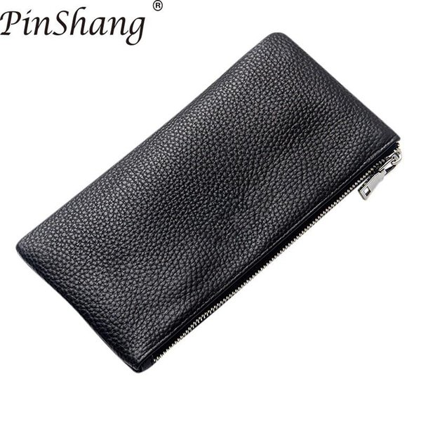 pinshang men wallet leather rectangle wallets soft wear wallet men resistance retro handbag purses and wallets purses zk40 (503700951) photo