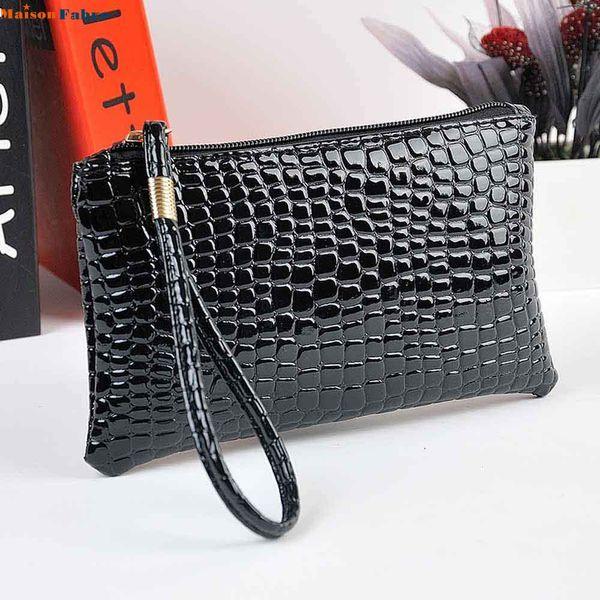 splendid women crocodile leather clutch handbag bag coin purse (470871499) photo