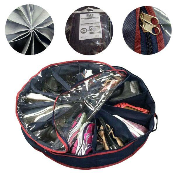 12 pair under bed shoe organizer storage holder shoe box tidy bag rack pockets multifunctional non-woven shoe storage bags