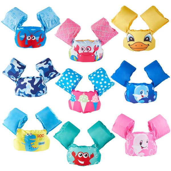 cartoon puddle jumper baby cartoon float tube arm sleeves swim ring life vest jackets armbands swim foam pool toys