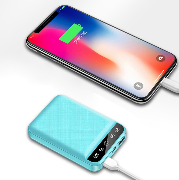 Cellphone power bank 2019 new fa ion mini portable power bank 4800mah dual u b batetry di play power bank (472251901) photo