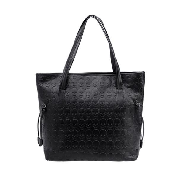 bags tote purse messenger hobo skull women handbag shoulder rivet bag (496703813) photo