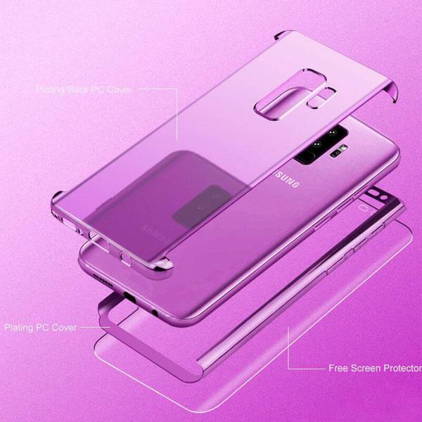 Для Samsung J6 J4 J4P Y9 Y7 Y6 J6 Plus A20E A70 A40 A10 A50 A6 A7 A8 полное покрытие 3 в 1 зеркало гальваника че фото