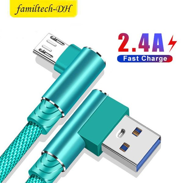 Fa t charging  peed 90 degree double elbow micro u b v8 cable type c game gaming cable   ync data 0 25m 1m 2m