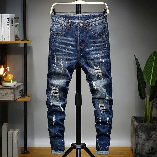 Мужские роскошные дизайнерские джинсы Джинсы, квадратные джинсы, мужские духи, модные мотоциклисты, узкие джинсы с высокой талией. фото