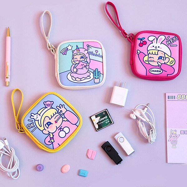 bentoy girl wallet cartoon purse printed girls cute earphone square package coin purse cartoon storage bag baby cute bag women (493061397) photo