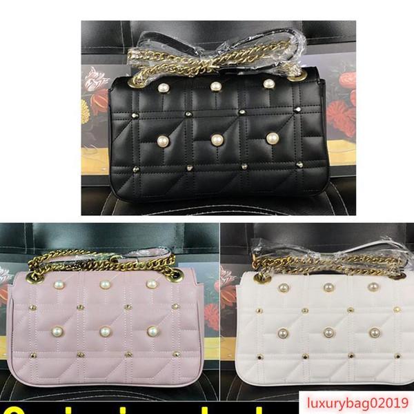 pearl decoration bag luxury handbags designer handbags cowhide genuine leather (518777776) photo