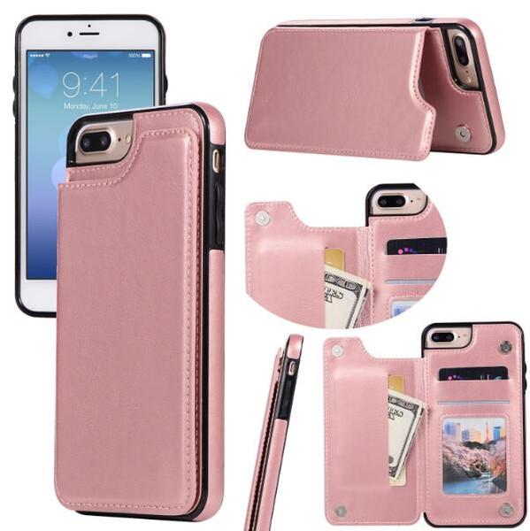 2019 новый PU кожаный чехол для телефона iPhone 8 7 6 6s Plus X Ретро Раскладные для Samsung S8 S9 Plus фото