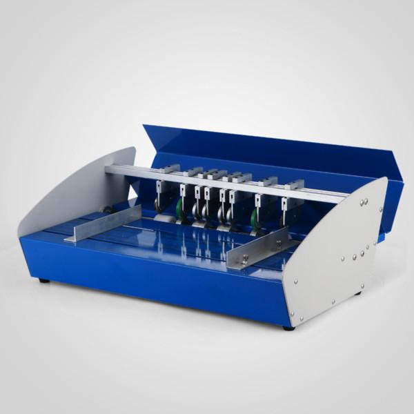 460mm electric folding machine a3 paper creaser scorer and perforator paper cutter perforating machine creasing (484737893) photo