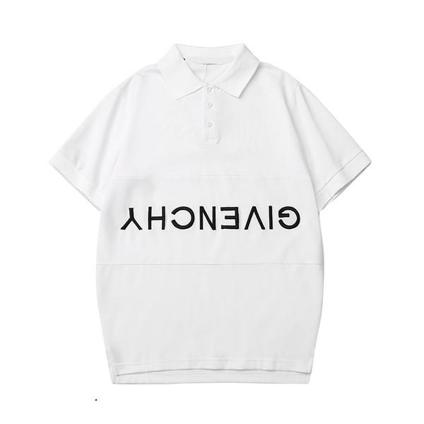 Мужская рубашка поло уличная мода хлопок поло рубашка мода Бесплатная новая мода фото