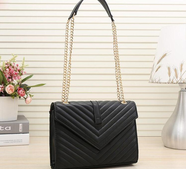 factory wholesale designer luxury handbags purses simple chain bag letter decoration ladies shoulder messenger bag (445977229) photo