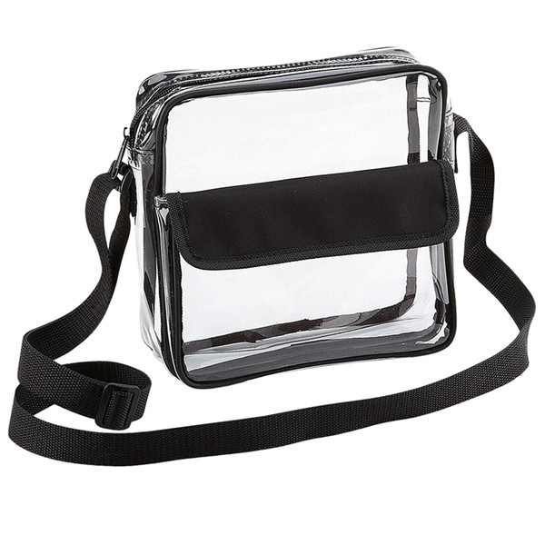 asds-clear crossbody messenger shoulder bag with adjustable strap stadium approved transparent purse (536972050) photo