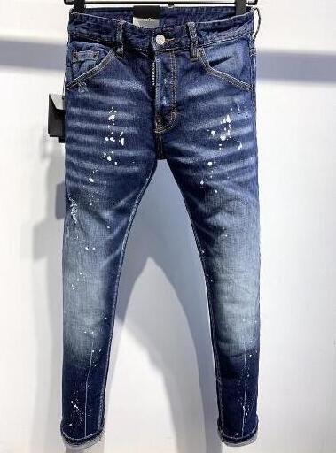 New Brand D2 Men jeans Denim Jean Embroidery Tiger Pants Holes D2 Jeans Zipper Men Pants Trousers skinnydsquared2 jeans men 00000015de#