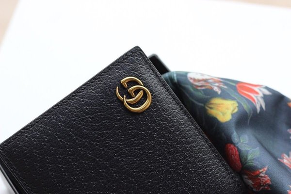 black b wallet with box women brand genuine leather square wallet purse women cardholder g428726 (505430314) photo