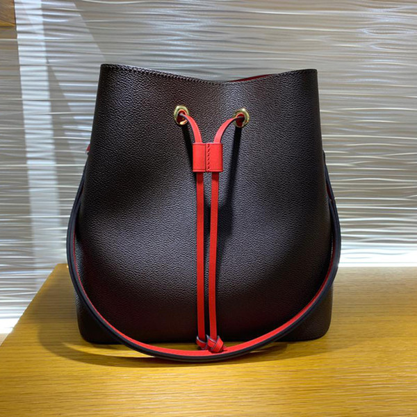 candy bag replica néonoé classic bucket bags drawstring bucket bags genuine leather shoulder handbag fashion lady purse with box b029 (532648389) photo